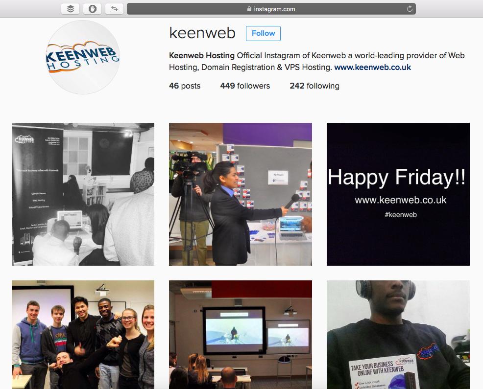 Keenweb Hosting Instagram